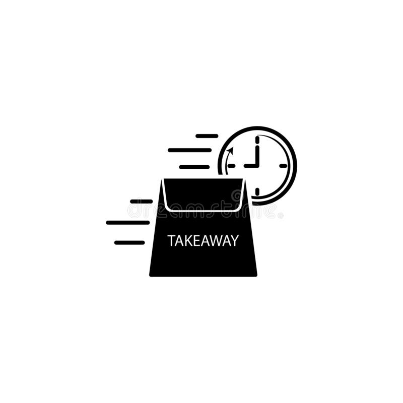 takeaway leveranshastighetssymbol Beståndsdel av hastighetssymbolen för mobila begrepps- och rengöringsdukapps Den detaljerade ta vektor illustrationer