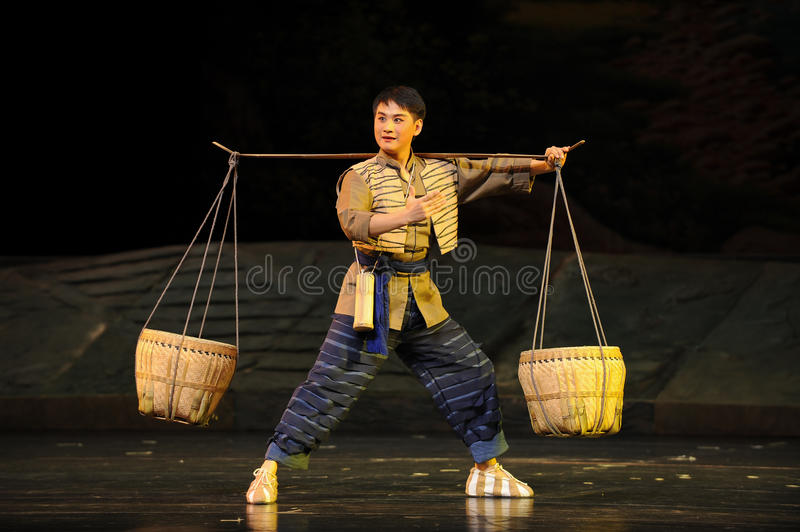 Takefu- Jiangxi opera a steelyard. Jiangxi opera a steelyard is adapted from a true story: the last century fortys, the protagonists father runs an oil mill in stock images