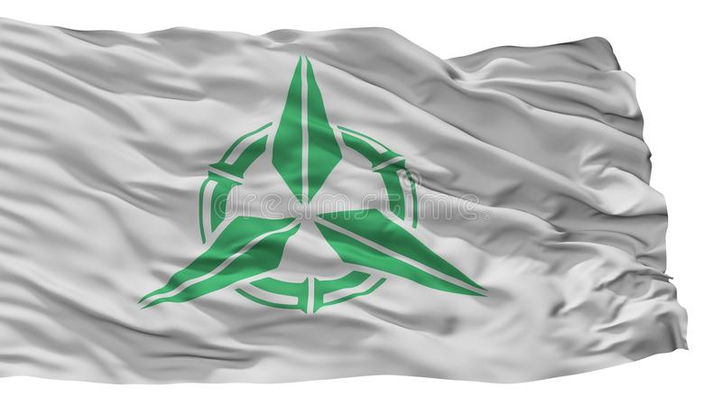 Takehara City Flag, Japan, Hiroshima Prefecture, Isolated On White Background. Takehara City Flag, Country Japan, Hiroshima Prefecture, Isolated On White royalty free illustration