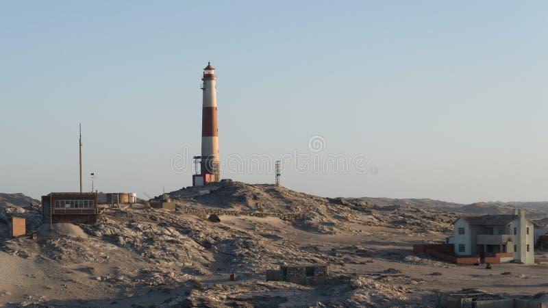 Luderitz Lighthouse during Sunset taken in January 2018 stock photo