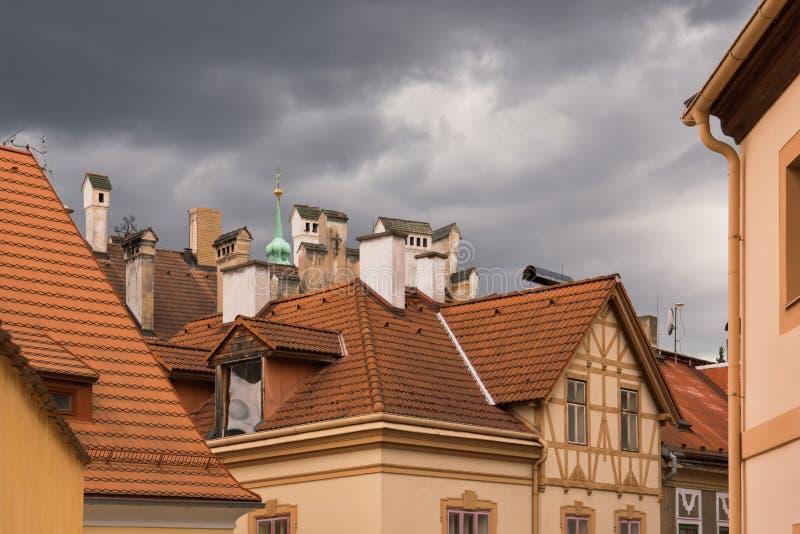 Taken av en gammal historisk stad royaltyfri fotografi