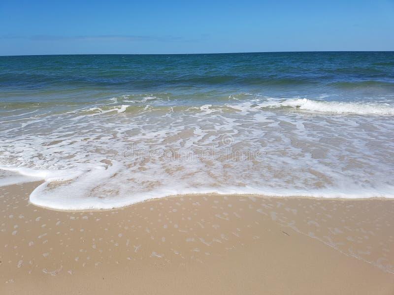 Beach Froth ocean on bribie island royalty free stock photos