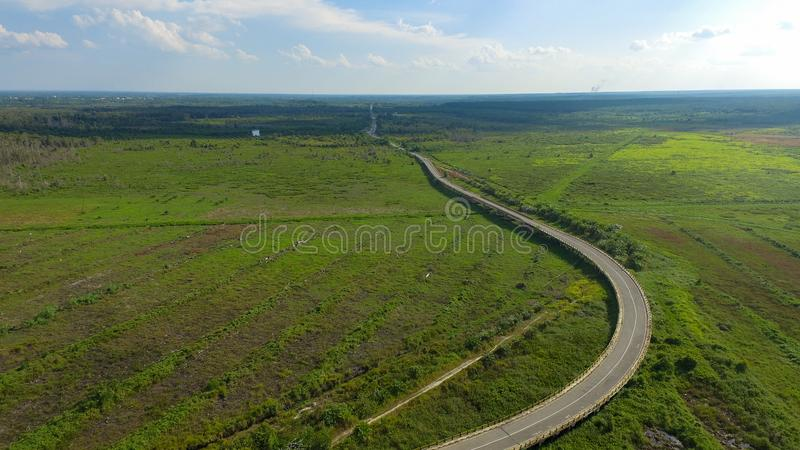 Long Road of Borneo - Tropical View stock photo