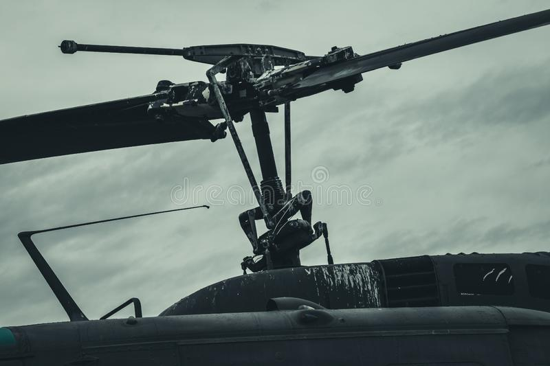 Weathered Helicopter Blades royalty free stock image