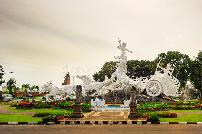 Satria gatotkaca statue, Bali royalty free stock photo