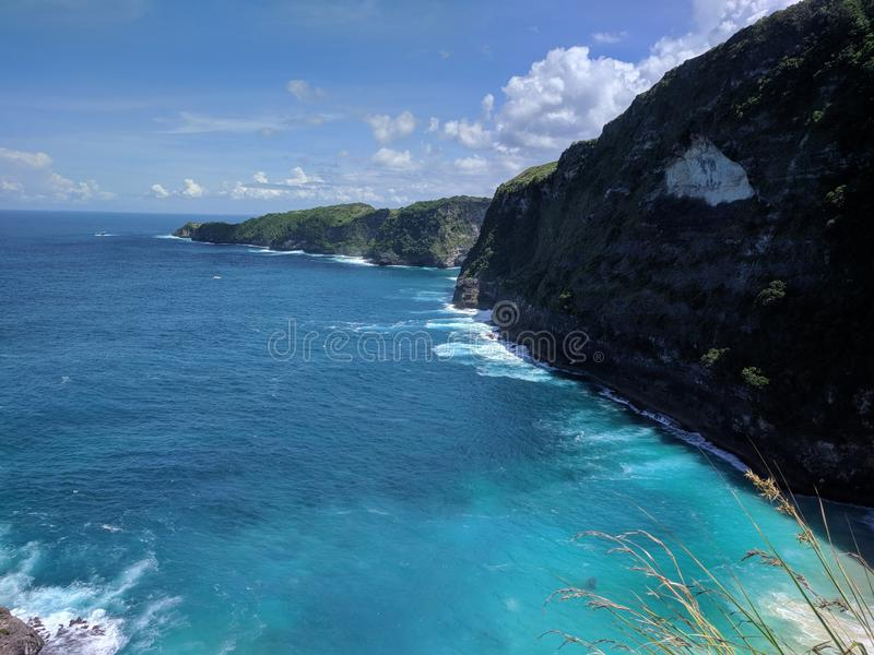 Nusa Penida, Bali Indonesia. Taken this pict in Kelingking Beach, Nusa Penida royalty free stock photos