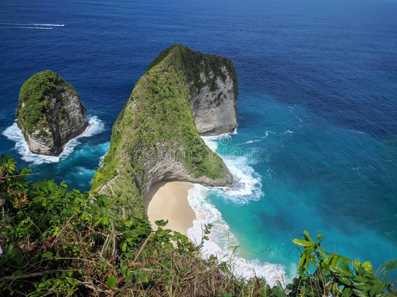Nusa Penida, Bali Indonesia. Taken this pict in Kelingking Beach, Nusa Penida royalty free stock images