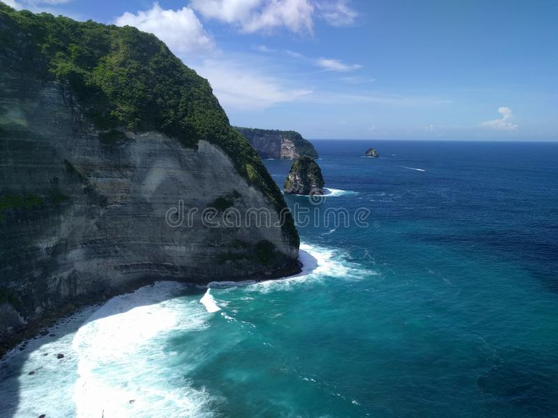 Nusa Penida, Bali Indonesia. Taken this pict in Kelingking Beach, Nusa Penida royalty free stock image
