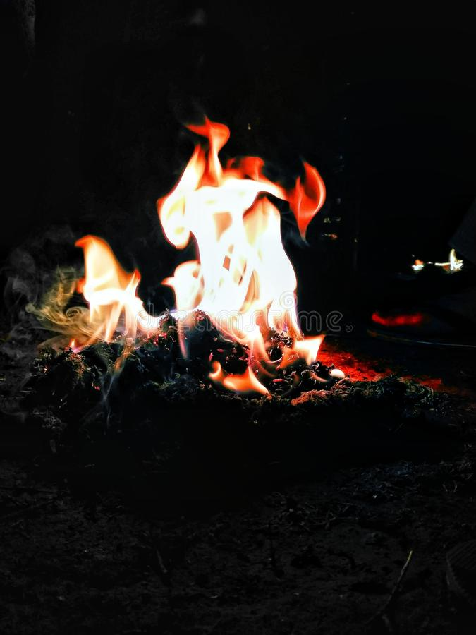 Feel the fire royalty free stock images