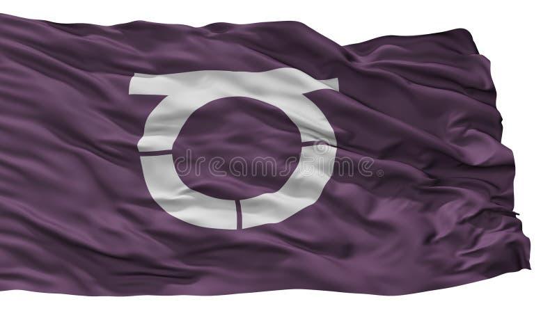 Takeo City Flag, Japan, Saga-Präfektur, lokalisiert auf weißem Hintergrund lizenzfreie abbildung