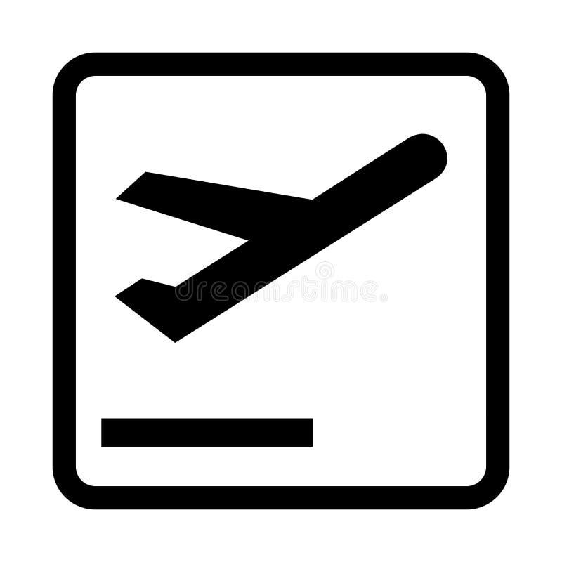 Takeoff aircraft symbol icon. Illustration royalty free illustration