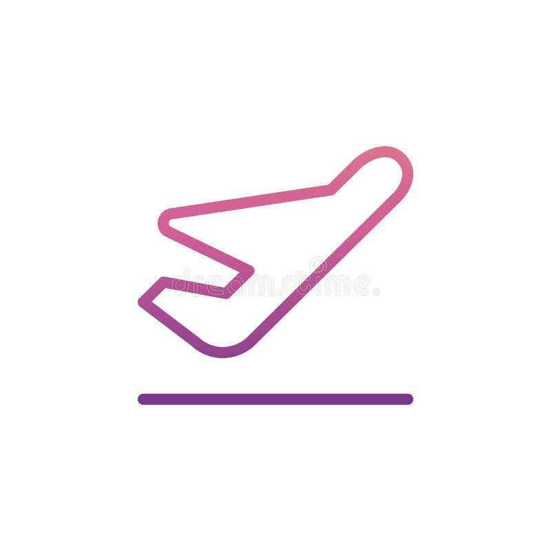Takeoff icon in Nolan style. On white background stock illustration