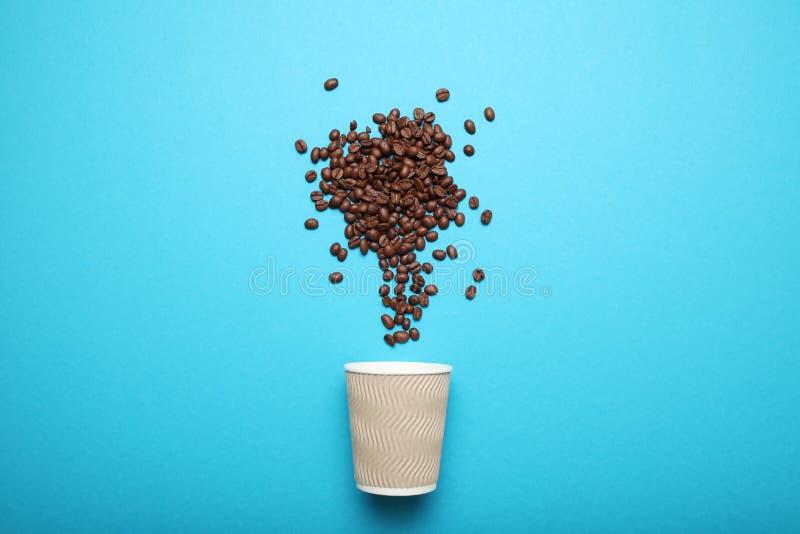 Takeout coffee drink. Breakfast latte.  royalty free stock image