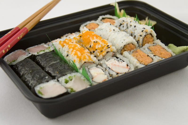Takeout Sushi royalty free stock images