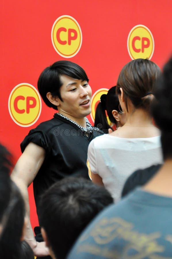 Takeru Kobayashi an größter Esser-Konkurrenz 2010 stockfotografie