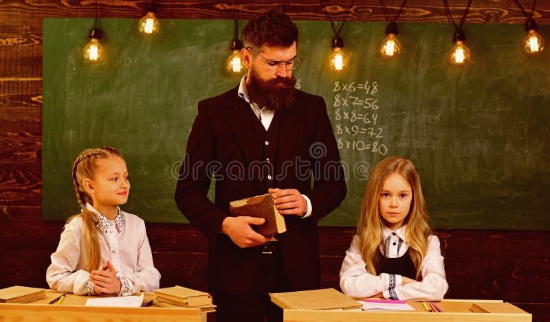It takes discipline to be the best. discipline at school lesson, schoolgils discipline. serious teacher wants good. Discipline. child development stock image