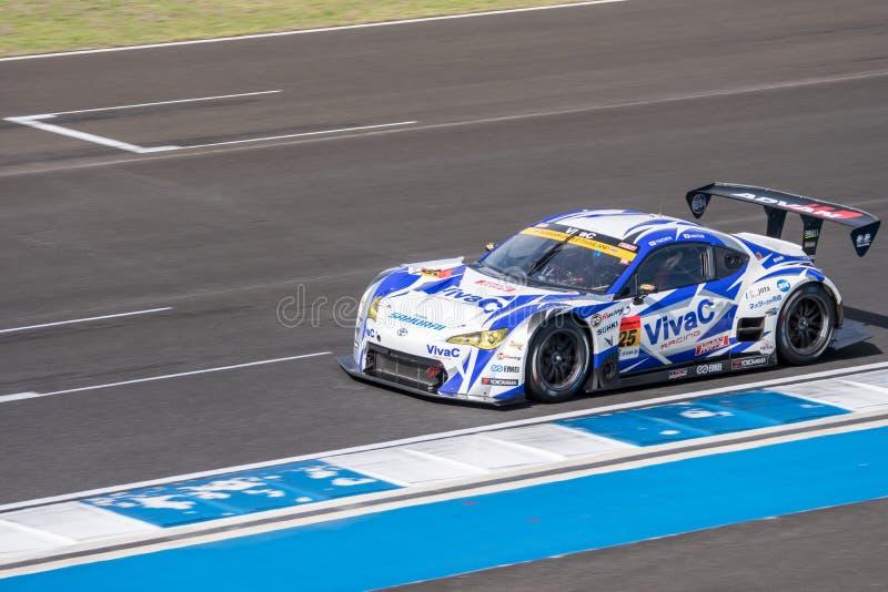 Takeshi Tsuchiya van VivaC-team TSUCHIYA in Super Definitief Ras 6 van GT stock foto