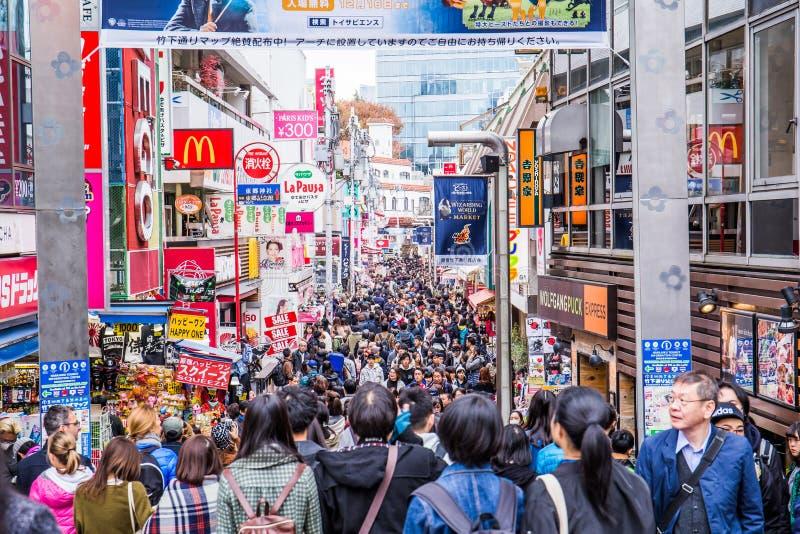 Takeshita Dori стоковые изображения rf