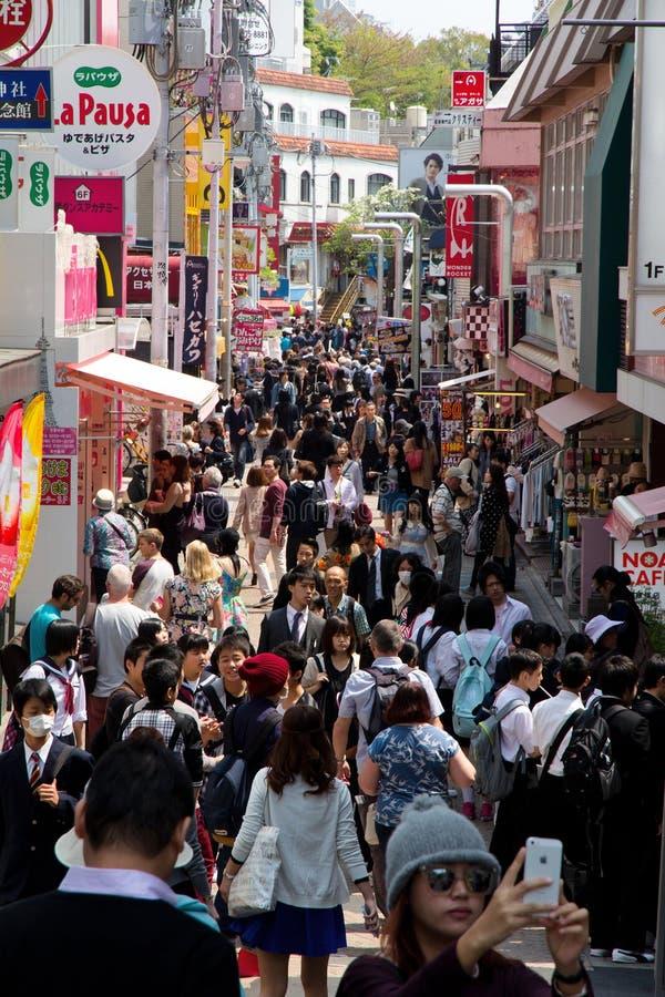 Takeshita gata Takeshita Dori i Harajuku royaltyfri fotografi