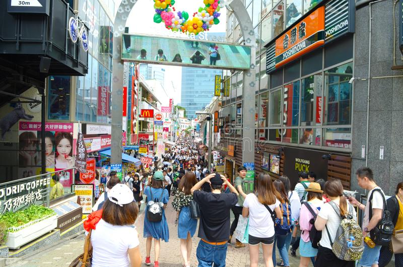 Takeshita gata Tokyo, Japan royaltyfri fotografi