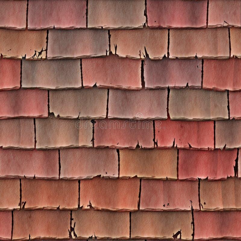 taket överlappar tegelplattor stock illustrationer