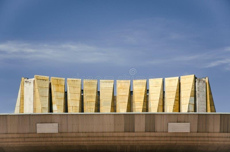 Taket av Odessa Theater av musikalisk komedi royaltyfri fotografi
