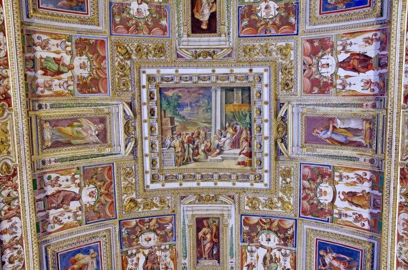taket details museet vatican fotografering för bildbyråer