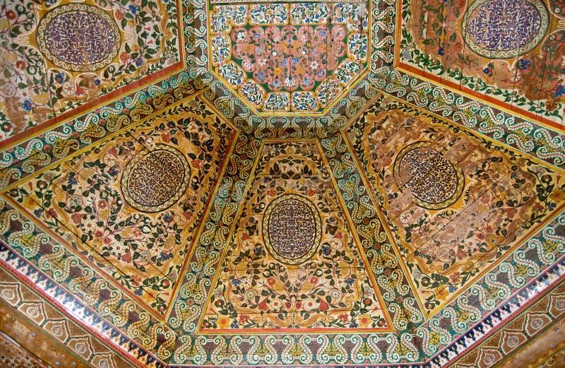 taket målade trä royaltyfri bild