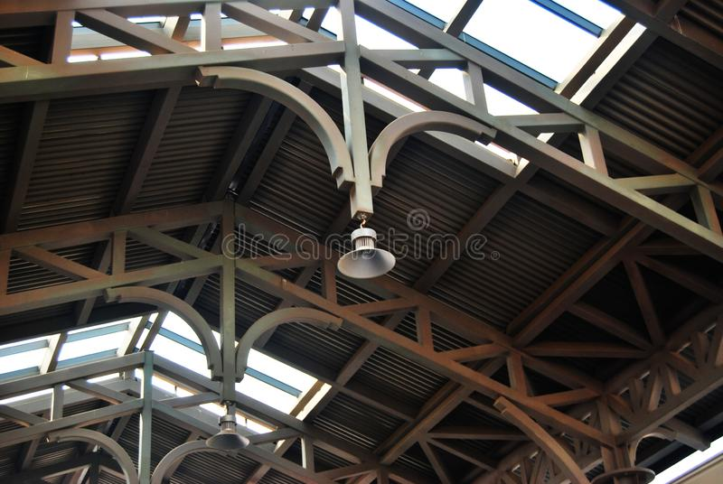 Takets arkitektoniska detaljer royaltyfria bilder