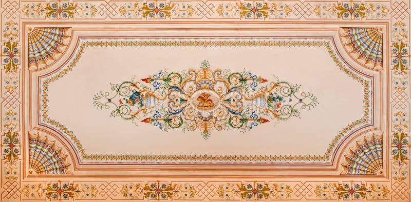 Takfreskomålning från arkiv i slotthelgonet Anton arkivbilder