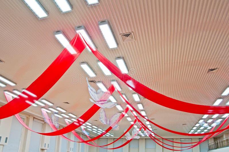takgarneringkorridor royaltyfri bild