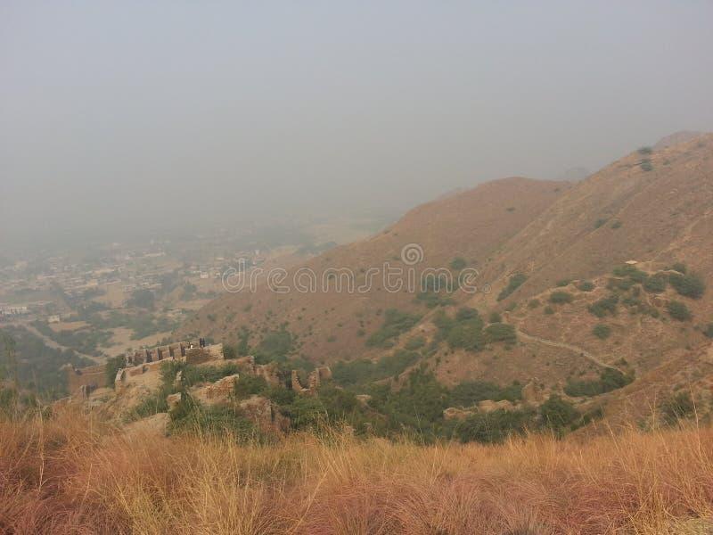 Takht-i-Bhai Parthian archeologiczny miejsce i Buddyjski monaster obraz royalty free