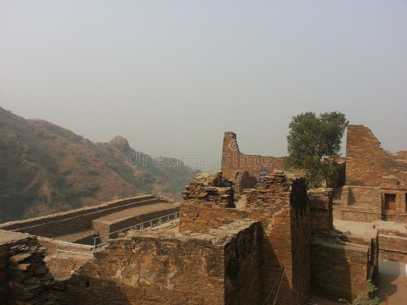 Takht-i-Bhai Parthian archeologiczny miejsce i Buddyjski monaster fotografia royalty free