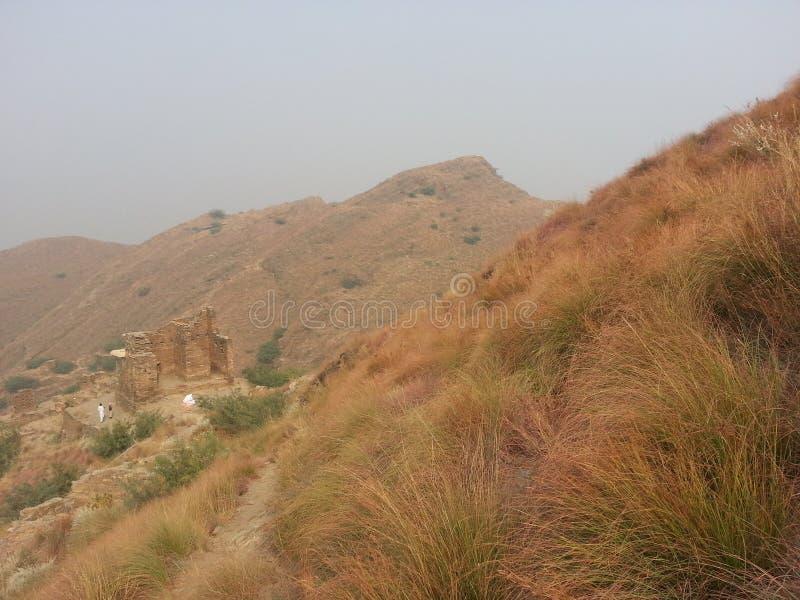 Takht-i-Bhai Parthian archeologiczny miejsce i Buddyjski monaster zdjęcia stock
