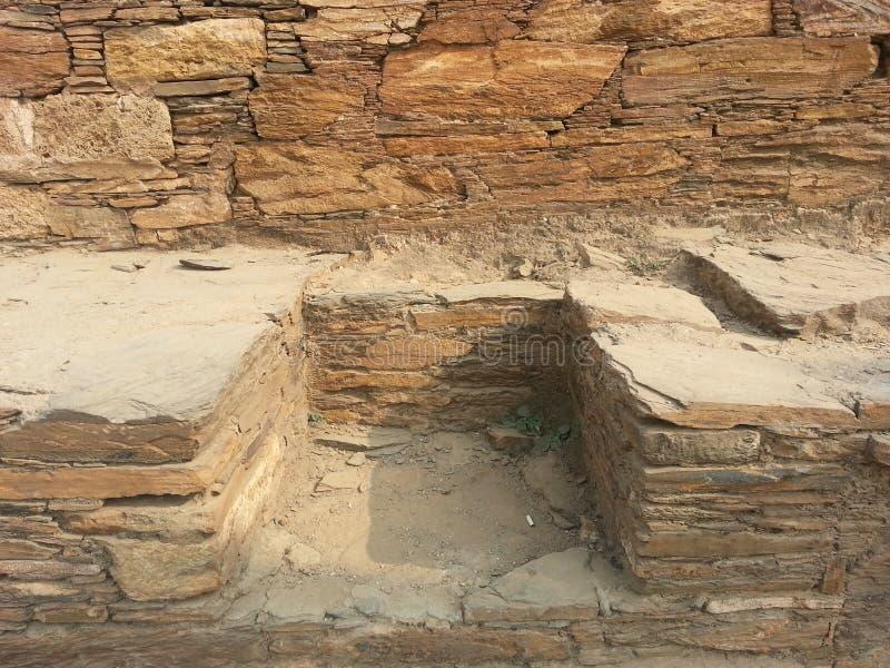 Takht-i-Bhai Parthian archeologiczny miejsce i Buddyjski monaster obrazy royalty free