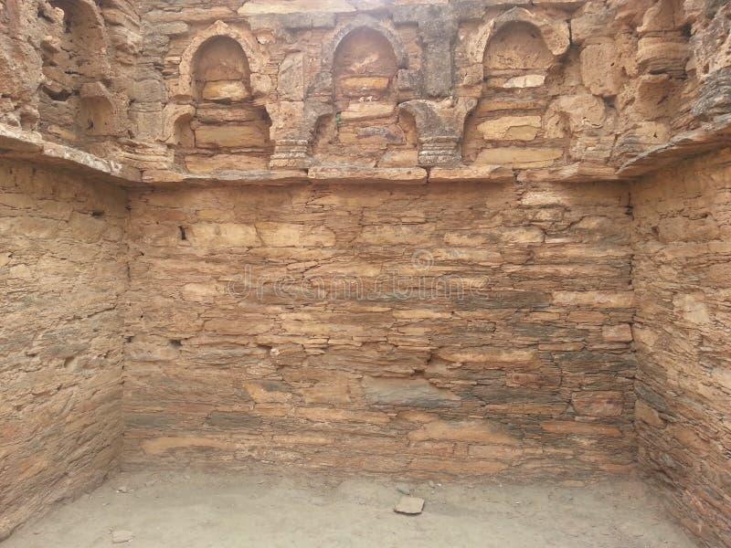 Takht-i-Bhai Parthian archeologiczny miejsce i Buddyjski monaster obraz stock