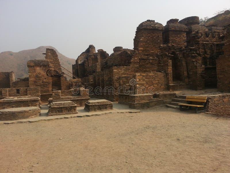 Takht-i-Bhai Parthian archeologiczny miejsce i Buddyjski monaster fotografia stock