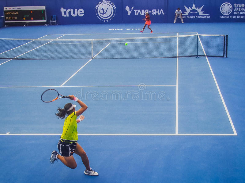 Taki-Sha ATT 2016 Finals. Taki-Sha Asian Tennis Tour Thailand 2016 Finals royalty free stock images