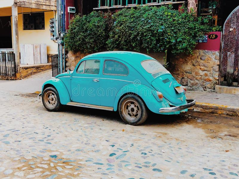taking it back to the 80s with the vintage Volkswagen Beetle royalty free stock images