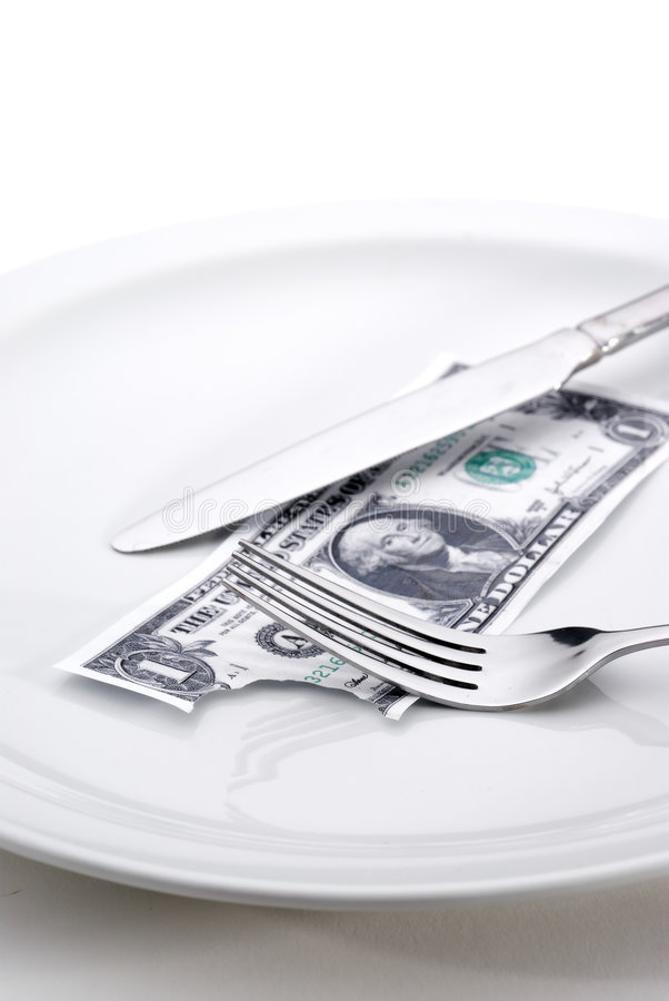 Taking a bite out of the economy stock images