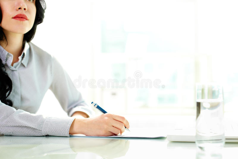 Download Taking business notes stock image. Image of collar, office - 26279041