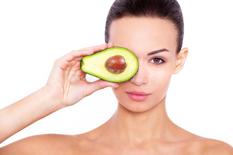 Taking care of your skin the natural way. stock photo