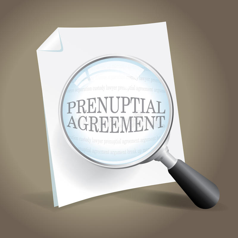 Reviewing a Prenuptial Agreement vector illustration