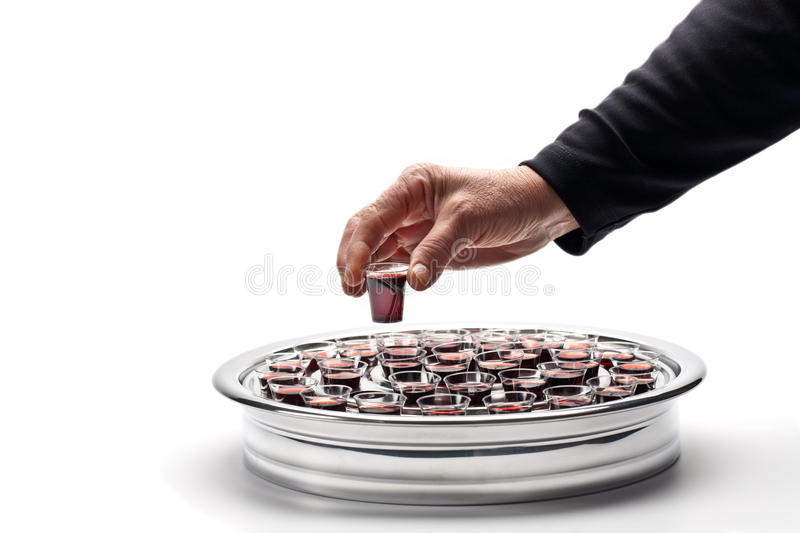 Download Taking Communion stock photo. Image of holding, symbol - 17748278