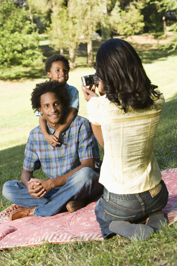 Download Taking family photos. stock photo. Image of portrait, three - 3614304