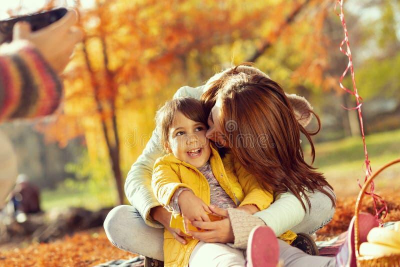 Taking family photos royalty free stock photos