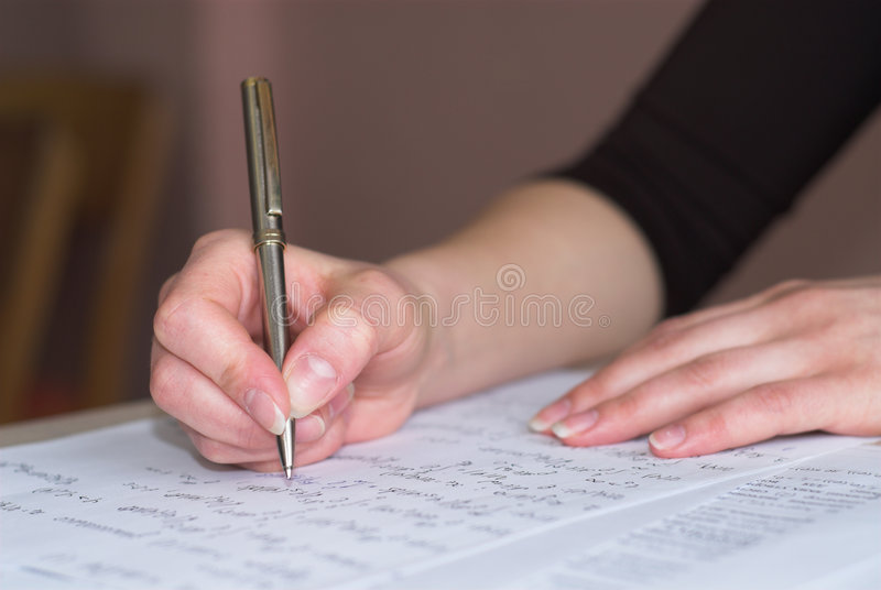 Taking math test royalty free stock image