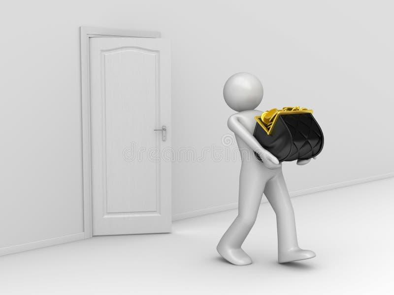 Taking Money Away - Purse Series vector illustration