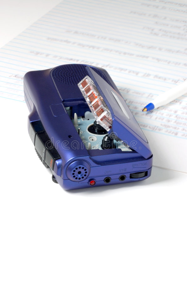 Taking notes 2. Close up of voice recorder royalty free stock photos