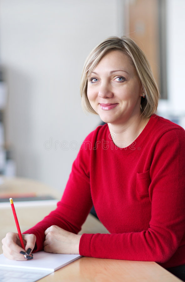 Download Taking notes stock image. Image of pretty, businesswoman - 8944627